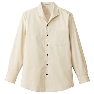 メンズ イタリアンカラー 長袖シャツ FB5033M−1 ベージュ