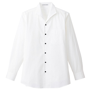 メンズ イタリアンカラー 長袖シャツ FB5033M−15 ホワイト