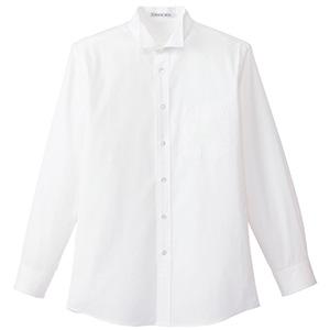 メンズウイングカラー 長袖シャツ FB5032M−15 ホワイト (S〜4L)