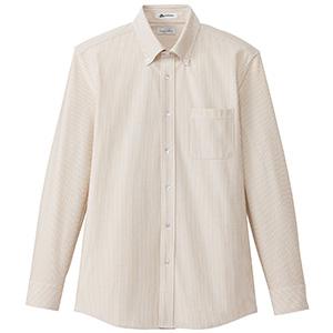 メンズ ニット吸汗速乾 長袖シャツ FB5028M−1 ベージュ