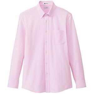 メンズ ニット吸汗速乾 長袖シャツ FB5028M−9 ピンク