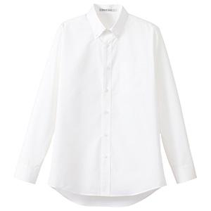 メンズ ストライプ調温長袖シャツ FB5030M−15 ホワイト