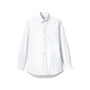 メンズ ボタンダウン長袖ニットシャツ FB5038M−15 ホワイト
