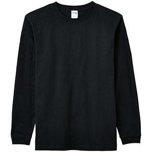 6.2オンスヘビーウェイトロングTシャツ MS1607−16 ブラック