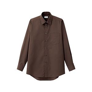 メンズ レギュラーカラー長袖シャツ FB5040M−5 ブラウン
