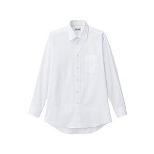 メンズ レギュラーカラー長袖シャツ FB5040M−15 ホワイト