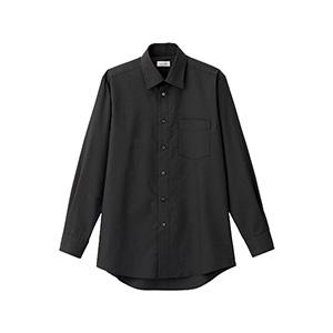 メンズ レギュラーカラー長袖シャツ FB5040M−16 ブラック