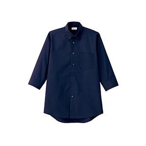 メンズ レギュラーカラー七分袖シャツ FB5042M−8 ネイビー