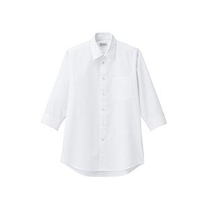 メンズ レギュラーカラー七分袖シャツ FB5042M−15 ホワイト