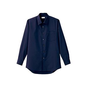 メンズ 開襟長袖シャツ FB5043M−8 ネイビー