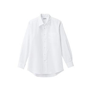 メンズ 開襟長袖シャツ FB5043M−15 ホワイト