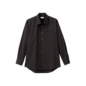 メンズ 開襟長袖シャツ FB5043M−16 ブラック