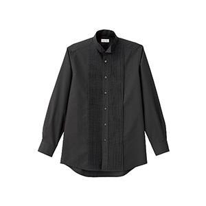 メンズ ピンタックウイングシャツ FB5045M−16 ブラック