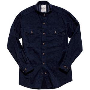 メンズスタンドシャツ RS4601−8 アースネイビー
