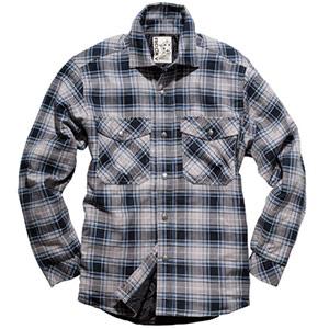 ユニセックスチェックキルトシャツ RS4901−2 グレー