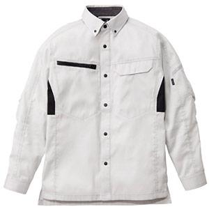 ユニセックス長袖シャツ RS4902−32 シルバーグレー