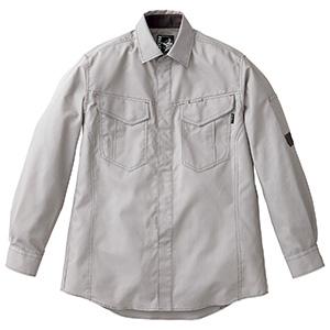 ユニセックス長袖シャツ RS4904−32 シルバーグレー