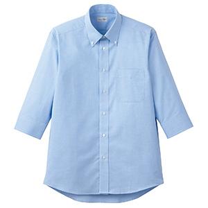 オックスフォード七分袖シャツ FB4555U−7 ブルー