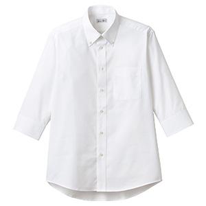 オックスフォード七分袖シャツ FB4555U−15 ホワイト