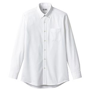 ボタンダウンニット長袖シャツ FB4557U−15 ホワイト