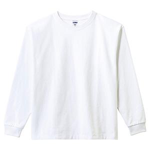 10.2オンス ポケット付スーパーヘビーウエイトロングスリーブTシャツ MS1608−15 ホワイト