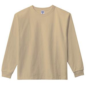 10.2オンス ポケット付スーパーヘビーウエイトロングスリーブTシャツ MS1608−65 サンドカーキ