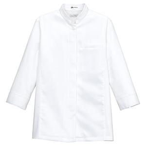 レディススタンド コック シャツ FB4010L−15 ホワイト