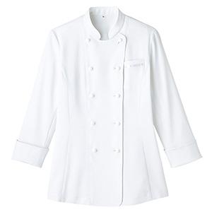 レディース吸汗速乾 コックシャツ FB4015L−15 ホワイト