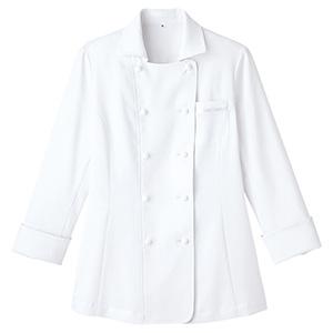 レディース吸汗速乾 コックシャツ FB4016L−15 ホワイト
