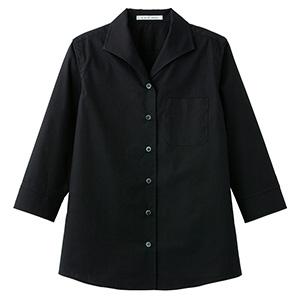 レディス イタリアンカラー 七分袖ブラウス FB4027L−16 ブラック