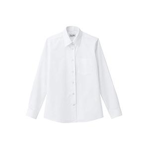 レディス レギュラーカラー長袖シャツ FB4035L−15 ホワイト