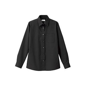 レディス レギュラーカラー長袖シャツ FB4035L−16 ブラック