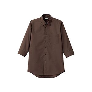 レディス レギュラーカラー七分袖ブラウス FB4037L−5 ブラウン