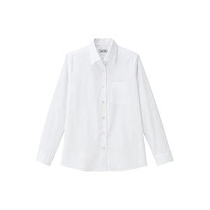 レディス 開襟長袖ブラウス FB4038L−15 ホワイト