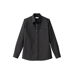レディス 開襟長袖ブラウス FB4038L−16 ブラック