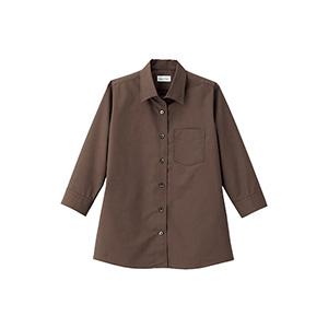 レディス 開襟七分袖ブラウス FB4039L−5 ブラウン
