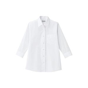 レディス 開襟七分袖ブラウス FB4039L−15 ホワイト