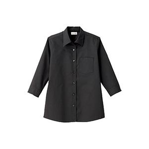 レディス 開襟七分袖ブラウス FB4039L−16 ブラック