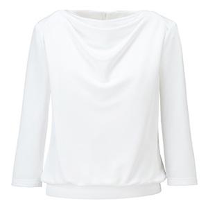 ドレープ七分袖ニット BCK7101−15 ホワイト