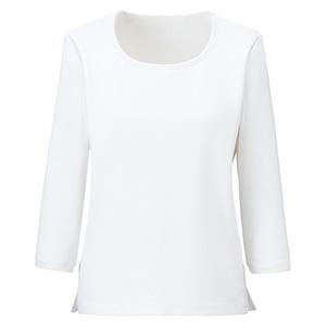 ラウンドネック七分袖ニット BCK7103−15 ホワイト