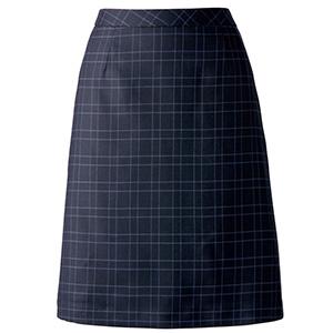 Aラインスカート AS2277−38 ネイビー×ブルー