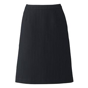 Lien AS2284−28 Aラインスカート ネイビー×グレイ (5〜19)