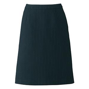 Lien AS2284−30 Aラインスカート ブラック×グレイ (5〜21)