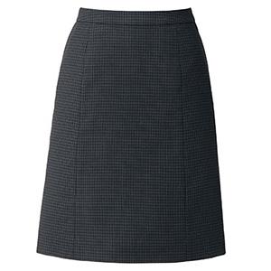 OpticalCheck Aラインスカート LS2201−30 ブラック×グレイ (5〜21号)