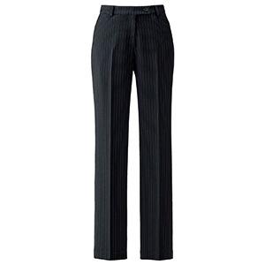 裾上げらくらくパンツ AP6245−30 ブラック×ベージュ