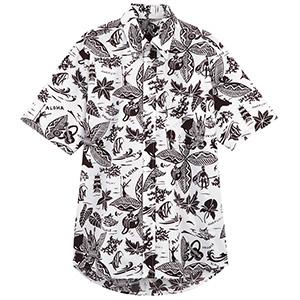 ユニセックス アロハシャツ FB599U−5 ブラウン