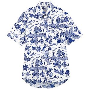 ユニセックス アロハシャツ FB599U−7 ブルー