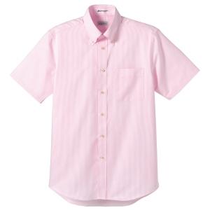 メンズ イタリアンストライプ半袖シャツ FB5012M−9 ピンク