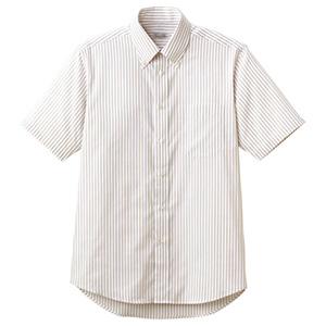 ユニセックス 半袖ストライプシャツ FB4509U−1 ベージュ