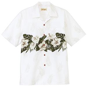 ユニセックス アロハシャツ FB4517U−15 ホワイト